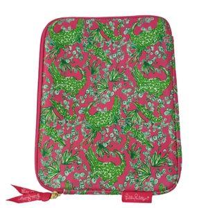 Lilly Pulitzer Tablet Case Pink Green Alligator